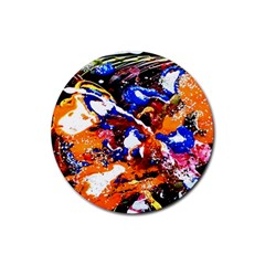 Smashed Butterfly Rubber Coaster (round)  by bestdesignintheworld
