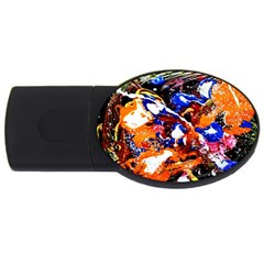 Smashed Butterfly Usb Flash Drive Oval (2 Gb) by bestdesignintheworld