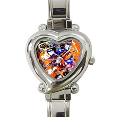 Smashed Butterfly Heart Italian Charm Watch by bestdesignintheworld