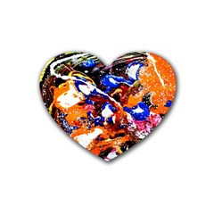 Smashed Butterfly Rubber Coaster (heart)  by bestdesignintheworld