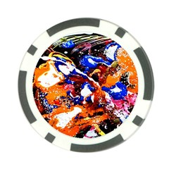 Smashed Butterfly Poker Chip Card Guard by bestdesignintheworld