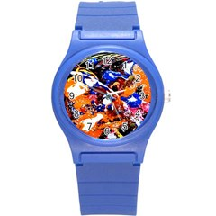 Smashed Butterfly Round Plastic Sport Watch (s) by bestdesignintheworld