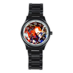 Smashed Butterfly 8 Stainless Steel Round Watch by bestdesignintheworld