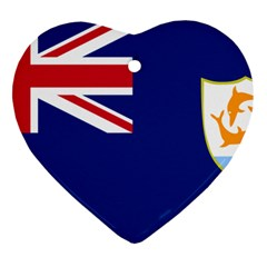 Flag Of Anguilla Ornament (heart) by abbeyz71