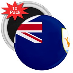 Flag Of Anguilla 3  Magnets (10 Pack)  by abbeyz71