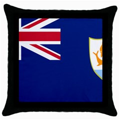 Flag Of Anguilla Throw Pillow Case (black) by abbeyz71