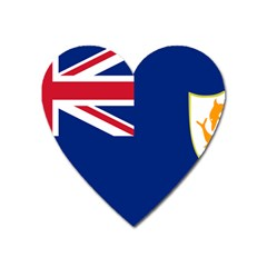 Flag Of Anguilla Heart Magnet by abbeyz71