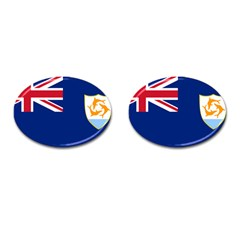 Flag Of Anguilla Cufflinks (oval) by abbeyz71