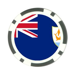 Flag Of Anguilla Poker Chip Card Guard by abbeyz71