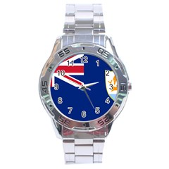 Flag Of Anguilla Stainless Steel Analogue Watch by abbeyz71