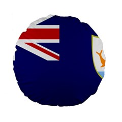 Flag Of Anguilla Standard 15  Premium Round Cushions by abbeyz71