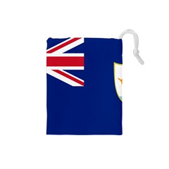 Flag Of Anguilla Drawstring Pouches (small)  by abbeyz71