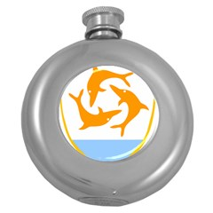 Coat Of Arms Of Anguilla Round Hip Flask (5 Oz) by abbeyz71