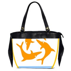 Coat Of Arms Of Anguilla Office Handbags (2 Sides)