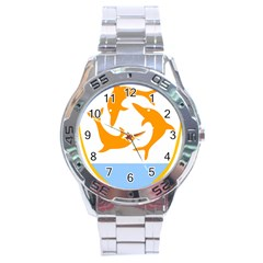 Coat Of Arms Of Anguilla Stainless Steel Analogue Watch by abbeyz71