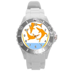 Coat Of Arms Of Anguilla Round Plastic Sport Watch (l) by abbeyz71