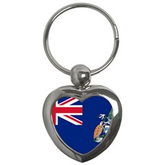 Flag Of Ascension Island Key Chains (heart)