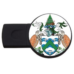 Flag Of Ascension Island Usb Flash Drive Round (4 Gb)