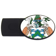 Flag Of Ascension Island Usb Flash Drive Oval (4 Gb)