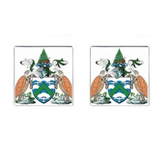 Flag Of Ascension Island Cufflinks (square)