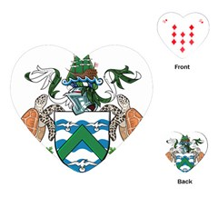Flag Of Ascension Island Playing Cards (heart)