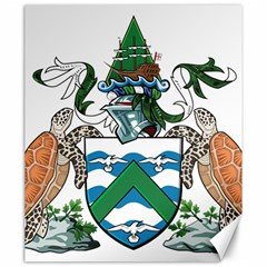 Flag Of Ascension Island Canvas 20  X 24