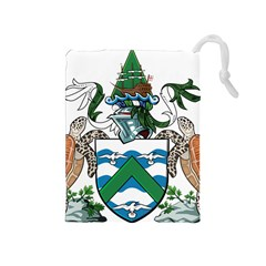 Flag Of Ascension Island Drawstring Pouches (medium)