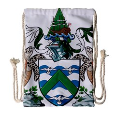 Flag Of Ascension Island Drawstring Bag (large)