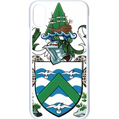 Flag Of Ascension Island Apple Iphone X Seamless Case (white)