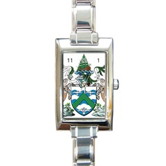 Coat Of Arms Of Ascension Island Rectangle Italian Charm Watch
