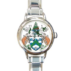 Coat Of Arms Of Ascension Island Round Italian Charm Watch
