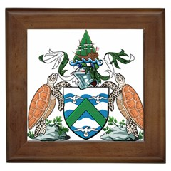 Coat Of Arms Of Ascension Island Framed Tiles