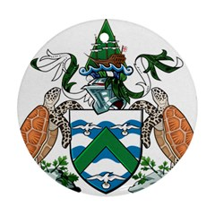Coat Of Arms Of Ascension Island Ornament (round)