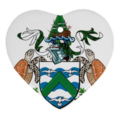 Coat Of Arms Of Ascension Island Ornament (heart)