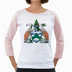 Coat Of Arms Of Ascension Island Girly Raglans
