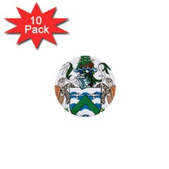Coat Of Arms Of Ascension Island 1  Mini Buttons (10 Pack)