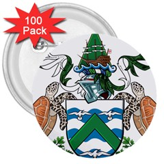 Coat Of Arms Of Ascension Island 3  Buttons (100 Pack)