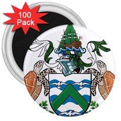 Coat Of Arms Of Ascension Island 3  Magnets (100 Pack)