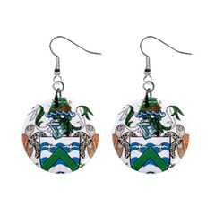 Coat Of Arms Of Ascension Island Mini Button Earrings