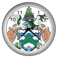 Coat Of Arms Of Ascension Island Wall Clocks (silver)  by abbeyz71