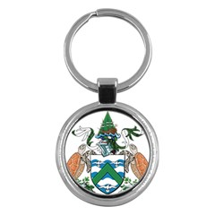 Coat Of Arms Of Ascension Island Key Chains (round)