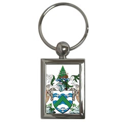Coat Of Arms Of Ascension Island Key Chains (rectangle)