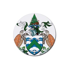 Coat Of Arms Of Ascension Island Rubber Coaster (round)