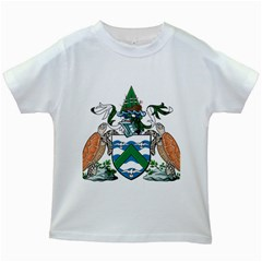 Coat Of Arms Of Ascension Island Kids White T Shirts