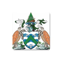 Coat Of Arms Of Ascension Island Square Magnet