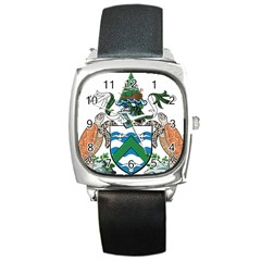 Coat Of Arms Of Ascension Island Square Metal Watch by abbeyz71