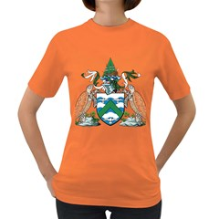 Coat Of Arms Of Ascension Island Women s Dark T Shirt