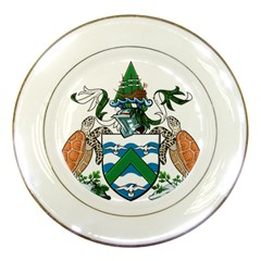 Coat Of Arms Of Ascension Island Porcelain Plates by abbeyz71
