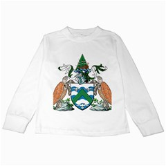Coat Of Arms Of Ascension Island Kids Long Sleeve T Shirts