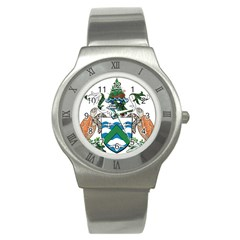 Coat Of Arms Of Ascension Island Stainless Steel Watch